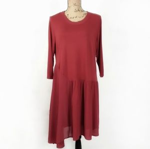 Soft Surroundings asymmetrical hem dress size LP